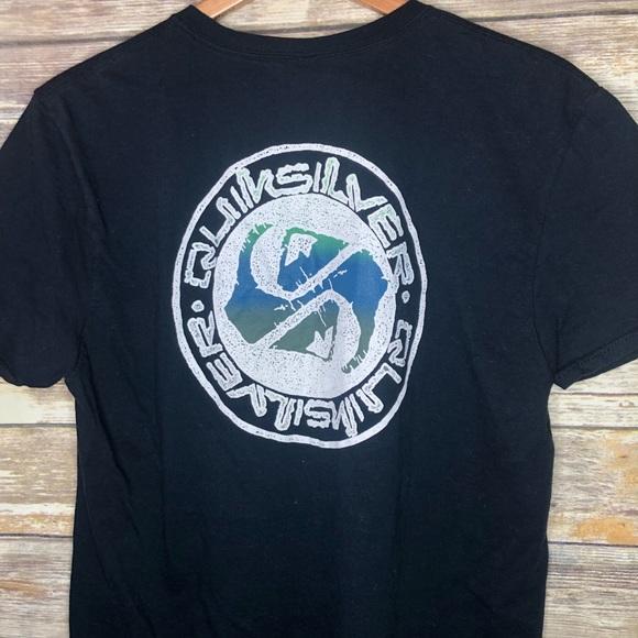 4343e90a5f Quiksilver logo graphic T surf skate snowboard L